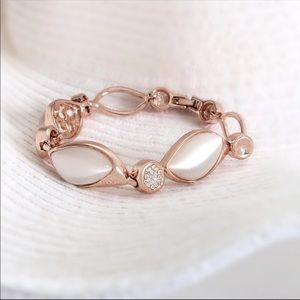 Jewelry - Rose Gold Plated Cat Eye Stone Bracelet